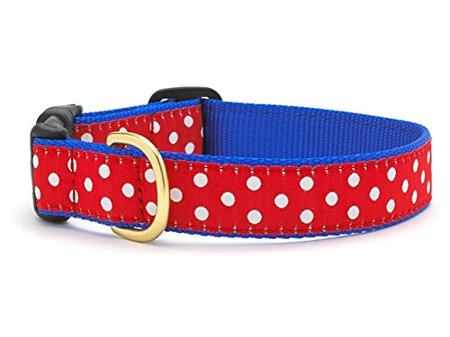 Up Country Swiss Dot Dog Collar - XL (18-24
