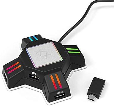 Laiashley - Conversor de teclado de ratón para juegos para N-Switch/Xbox One/PS4/PS3