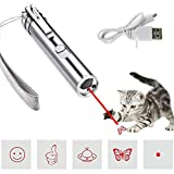 Multi-Pattern Funny Cat Chaser Toy Light to Entertain Your Pets Interactive Chase Cat Toys,Command Light Pet Training Tools-USB Rechargeable