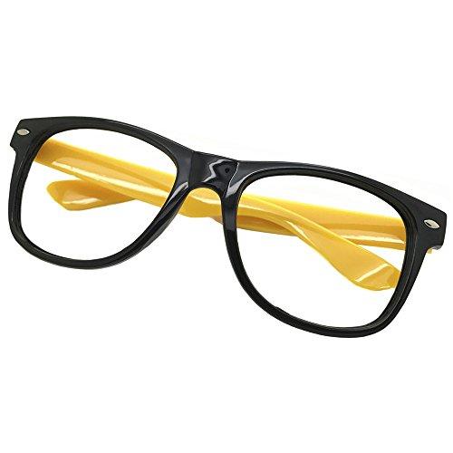 FancyG Classic Retro Fashion Style Glasses Frame Eyewear NO LENS - Black ()