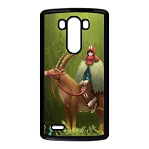 LG G3 phone case Princess Mononoke ashitaka San Hard Case Black 03