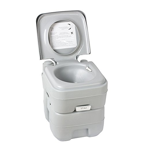 5 Gallon Portable Toilet Flush Travel Camping Outdoor/indoor Potty Commode 20l by Everythingshop