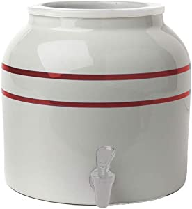 New Wave Enviro Products Porcelain Water Dispenser, Red Stripe