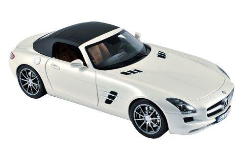 ノレブ 1/18 メルセデスベンツ SLS AMG ロードスター 2011 Mホワイト 完成品 B00AH4E3I4