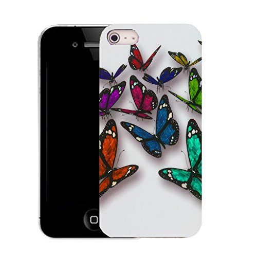 Mobile Case Mate iPhone 5c clip on Silicone Coque couverture case cover Pare-chocs + STYLET - butterfly streak pattern (SILICON)