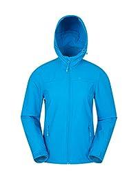 Mountain Warehouse Exodus Womens Softshell Jacket - Cool Summer Coat Turquoise 10