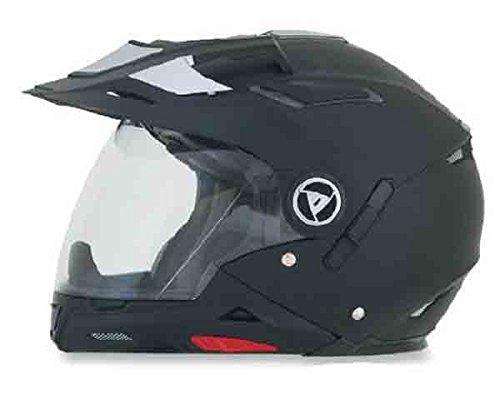 AFX FX-55 7-In-1 Solid Helmet , Distinct Name: Flat Black, Gender: Mens/Unisex, Helmet Category: Street, Helmet Type: Modular Helmets, Primary Color: Black, Size: XL 0104-1235