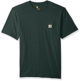 Carhartt Men's Workwear Pocket Short-Sleeve T-Shirt Shirt, -navy heather, X-Large