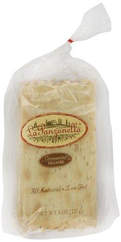 La Panzanella Sesame Croccantini, 8-Ounce Bags (Pack of 6) by La Panzanella