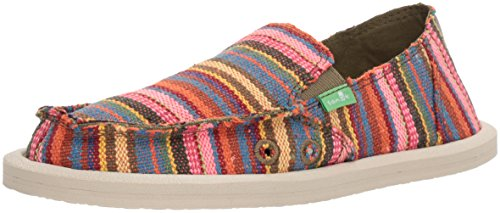 Donna Sneaker - Sanuk Kids Girls' LIL Donna Blanket Loafer, Cabaret Kauai Blanket, 08 M US Toddler