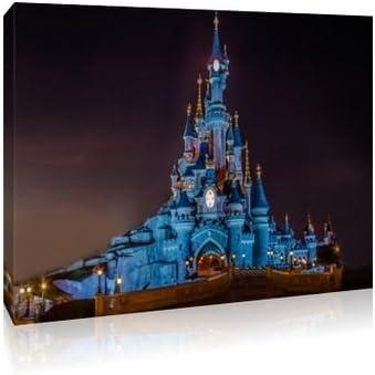 Disney Princesas Disney en un castillo con marco Puicture 30 x 50,8 cm lienzo tamaño grande: Amazon.es: Hogar