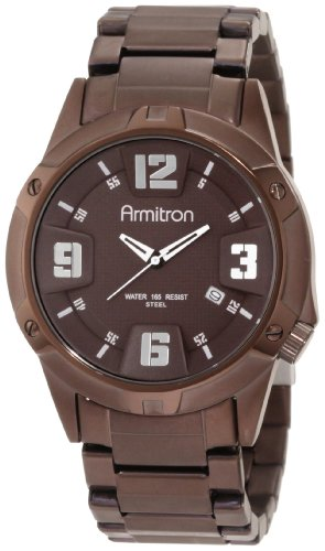 Armitron Men s 20 4692BNBN Men s Dress Brown Ion-Plated Bracelet Watch