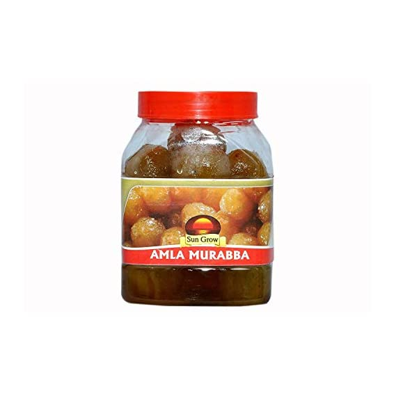 Sun Grow Home Made Organic Elaichi Flavoured Amla Murabba, Ingredient:, Fenugreek, Clove, Elam, Crystals, Honey, Cardamom (Elichie), Palm Good for Blood Circulation -1 Kg