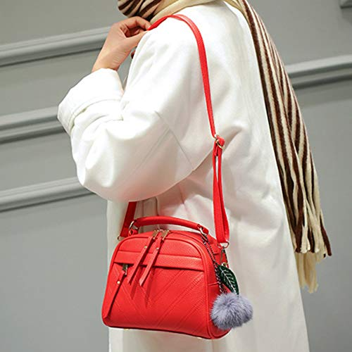 per Girls Messenger Fashion Teenager Crossbody Borse Jiobapiongxin Leather The Pendente Women capelli Bag Lady Jbp Ball Bag Shoulder Pu x Pouch wP7Oq8