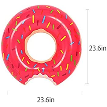 Sealive 60cm Inflatable Pool Floats for Kids, Donuts Pool Float Swimming Ring Donut Party Supplies