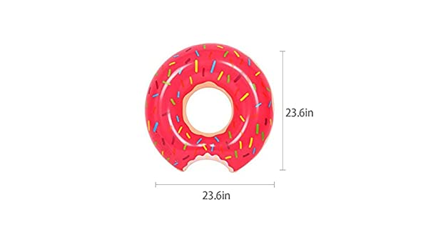 Amazon.com : Spring Summer New Float 60Cm Inflatable Adult Swim Ring Thickened Strawberry Donuts Chocolate Flotador Donut Lifebuoys, For Unisex Kids And ...