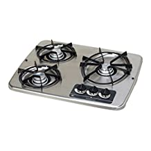 Atwood (56472) DV 30S Stainless Steel Drop-In 3-Burner Cooktop by Atwood
