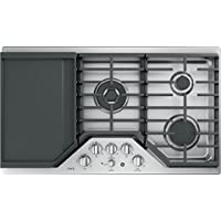 GE Cafe CGP9536SLSS 36 Inch Natural Gas Sealed Burner Style Cooktop with 5 Burners in Stainless Steel