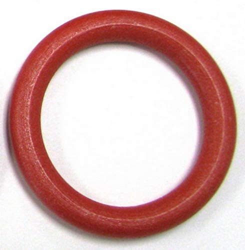 Linpeng Wood Loops/Wooden Rings for Craft Work/DIY Jewelry/Ring Pendant/Jewelry Making Connectors/Ring Size 30mm, Inner Dia 18mm /Red, Scarlet, Ruby, Garnet, Rose, Strawberry, Lava/5PCS