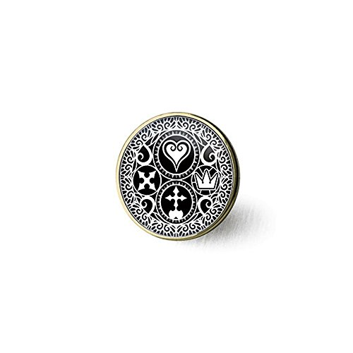 Triple Heart Key - Handmade Kingdom Hearts Ultimania Trinity Emblem Necklace, Pendant Gift for Her Him, Nekel Free Jewelry religious gift, KEYCHAIN