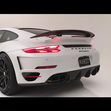 Porsche Turbo / S Aggressive Rear bumper w/ 991.2 LED Taillights
