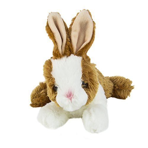 Aurora Wold Plush Mini Flopsie Baby Bunny Brown 8""
