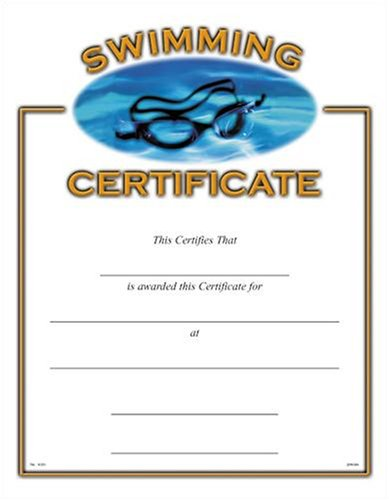amazon com sports certificates 10 pack swimming blank