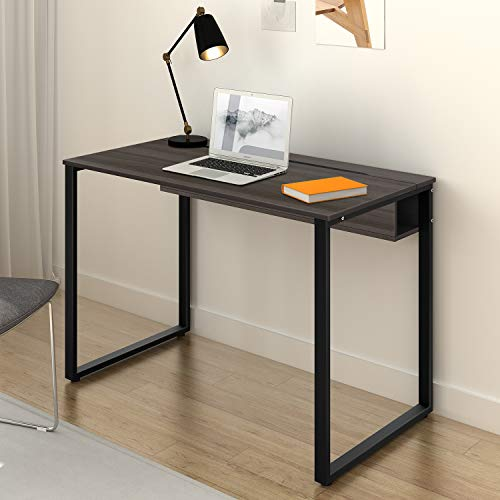DEVAISE Computer Desk Home Office Workstation with Built-in Cable Management