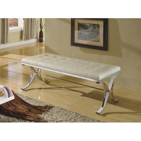 Vanity Hall Bathroom Furniture (Metal Frame Bench, Beige & Silver)