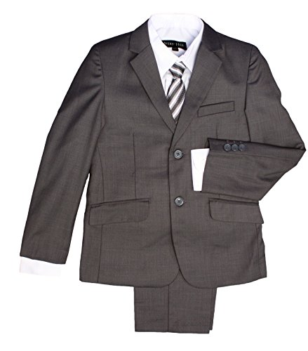 Five Piece Suit (Avery Hill Boys Formal 5 Piece Suit with Shirt, Vest, and Tie Char 2T)