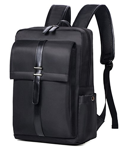 - Seaoeey Men's Fashion Backpack Leisure Rucksack Business Laptop Bag Black