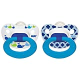 nuk size 3 - NUK Marrakesh & Whales Puller Pacifier in Boys, 18-36 Months