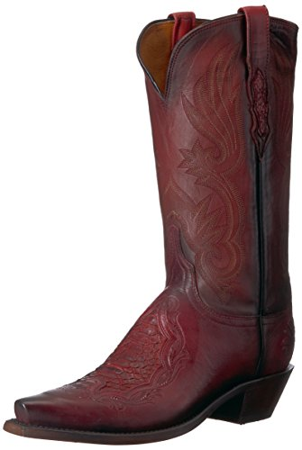 Lucchese Bootmaker Women's Beatrice Western Boot, Red, 9 B US - Beatrice Leather