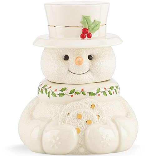 Lenox Happy Holly Days Snowman Cookie Jar (Happy Holidays Cookie Jar)