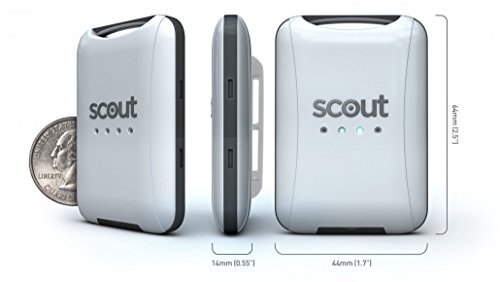 Scout (Black) Personal GPS Tracker W/Real-time tracking and Geofence Alerts