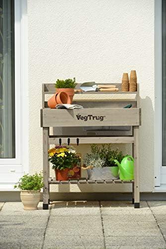 VegTrug Duluxe - Banco para macetas, Color Gris: Amazon.es: Jardín