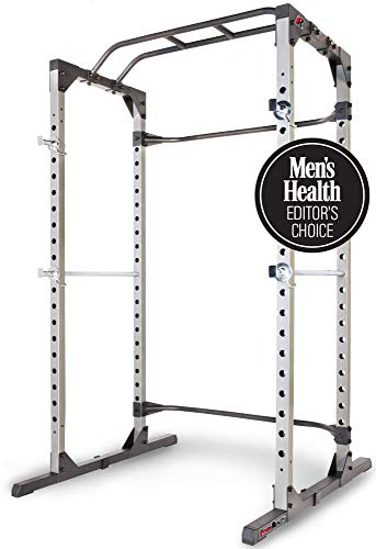 Fitness Reality 810XLT Super Max Power Cage with Optional Lat Pull-down Attachment and Adjustable Leg Hold-down (Rack Half Weight Equipment)