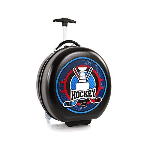 Heys Wheeled Luggage - Heys Kids Sports Luggage 16 Inch Wheeled Suitcase for Boys - Hockey Puck