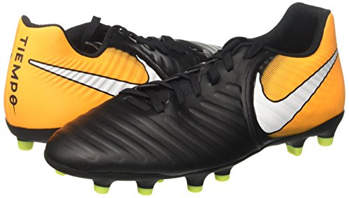 Nike Tiempo Rio Iv Fg, Men's Footbal Shoes, Black (Black/White/Laser Orange/Volt), 8 UK (42.5 EU)