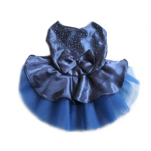 Great Dog Dress,Dealzip Inc Lovely Dog Cat Bow Tutu Ballerina Dress Lace Skirt Pet Puppy Dog Clothes Costume Blue Size (Ballerina Dog Costumes)