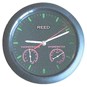 Reed TH-1/A Combination Hygrometer, Thermometer, and Clock, -40 to 120 Degrees F, +/-3.6 Degrees F Accuracy