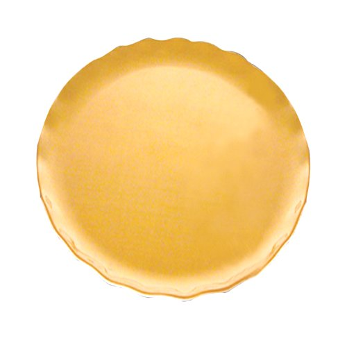 Excellanté Mica Pearl Collection 16-Inch Platter, - Dinnerware Gold Pearl
