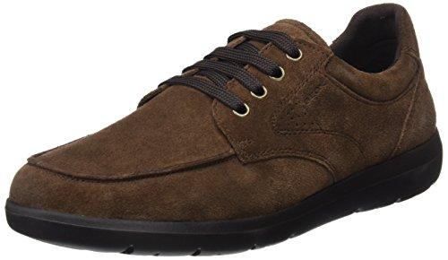 Geox U743QB00022, Zapatos de Cordones Hombre Marrón (Ebony)