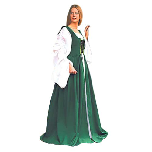 Museum Replicas Renaissance Costume - Fair Maiden's Dress (GREEN) L/XL ()