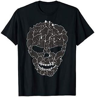 Funny Cat Skull Tee Cat Lovers Kitty Skeleton Halloween Gift T-shirt | Size S - 5XL