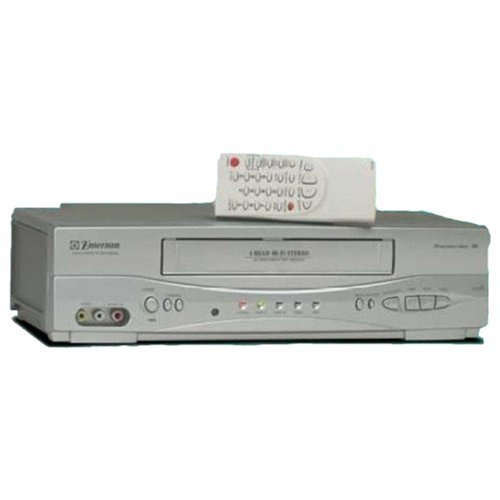 Emerson EWV603 4 Head HIFI Stereo ON-SCREEN MENU Video Player / Recorder (VCR) with 19 Micron Heads (Vcr Emerson Player)