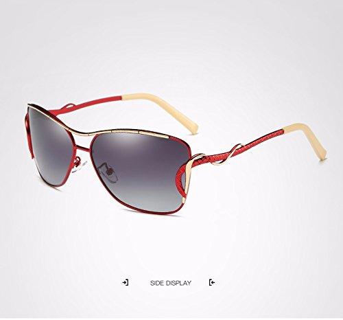 de Gato Ojo Adultos Gafas Marco Moda de de para Sol Sol Gafas Ruiyue Sol Gafas Vintage Gafas de Gafas de Sol de Metal Red de Mujer Espejo UV400 para Sol de de Sol Grande de de Sol de Polaroid Gafas 4qxzwxFP