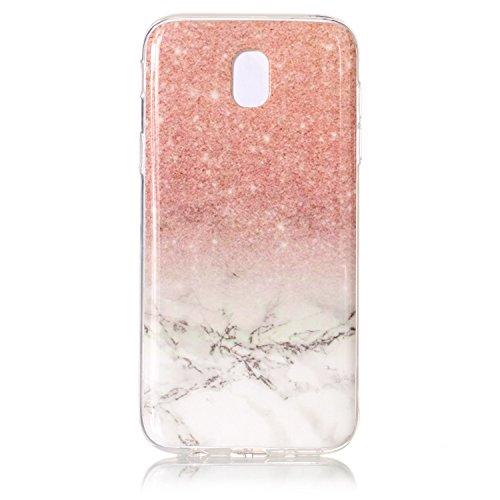 Samsung Galaxy J5 2017 / J530 Hülle Marmor Silikon, Lomogo Schutzhülle Stoßfest Kratzfest Handyhülle Case mit Marmormuster für Samsung Galaxy J5 (2017) - YIHU23507 #2 #2