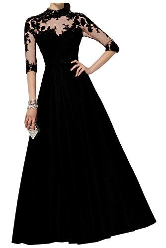 A Partykleider Regency La Linie Schwarz Lang Langarm mit Spitze Brautmutterkleider mia Ballkleider Braut Abendkleider 16q8Y
