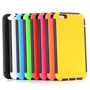 ZL Dual-color Rubber Coated Design Detachable TPU + PC Case for iPhone 6(Assorted Colors) , White